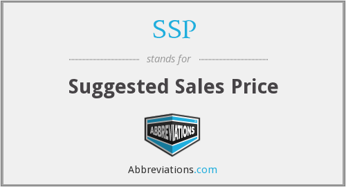 SSP - Suggested Sales Price