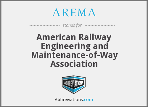 What does AREMA stand for?