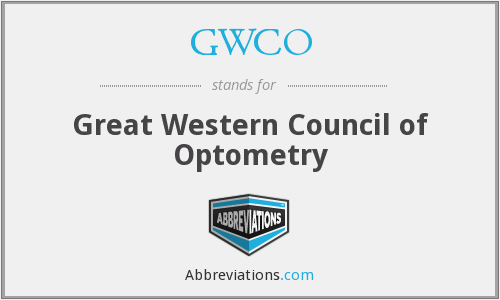 GWCO - Great Western Council of Optometry