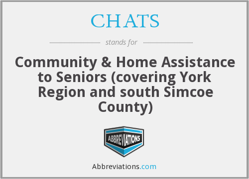 CHATS - Community & Home Assistance to Seniors (covering York Region and south Simcoe County)