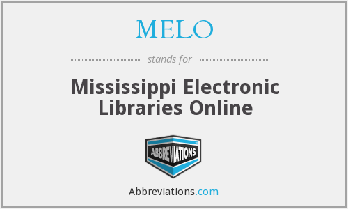 MELO - Mississippi Electronic Libraries Online