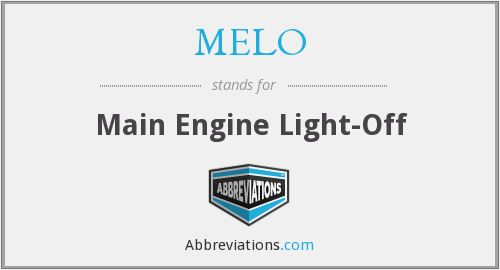 MELO - Main Engine Light-Off