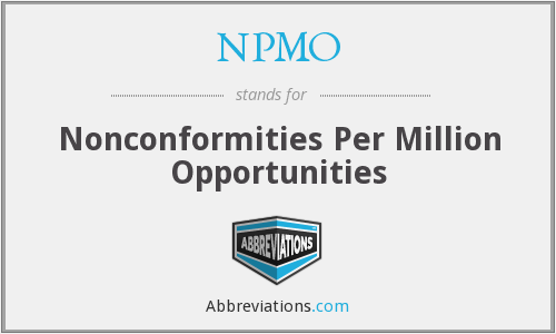 NPMO - Nonconformities Per Million Opportunities
