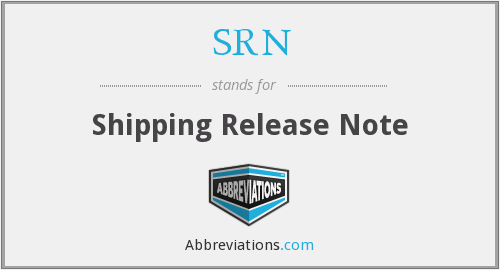 SRN - Shipping Release Note
