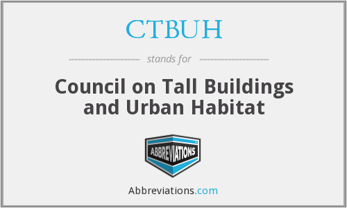 What does CTBUH stand for?