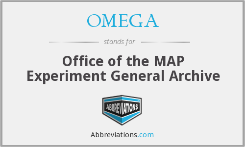 OMEGA - Office of the MAP Experiment General Archive