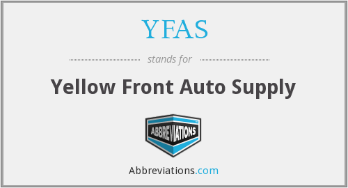 YFAS - Yellow Front Auto Supply