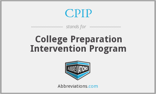 CPIP - College Preparation Intervention Program