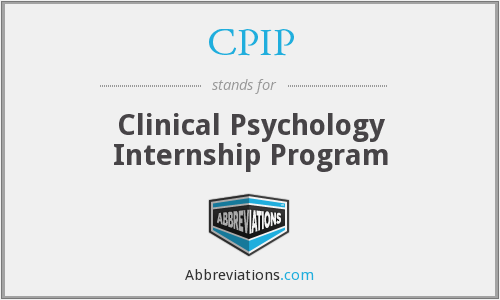 CPIP - Clinical Psychology Internship Program