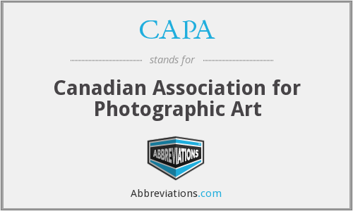 CAPA - Canadian Association for Photographic Art