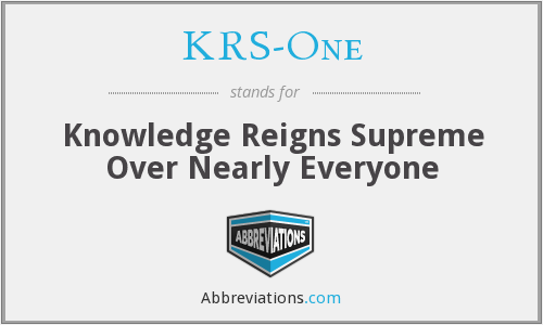 KRS-One - Knowledge Reigns Supreme Over Nearly Everyone