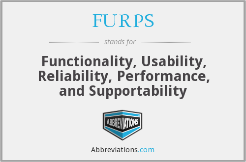 What does FURPS stand for?
