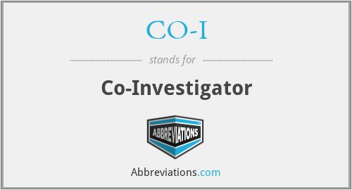 CO-I - Co-Investigator