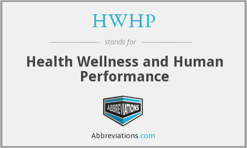 HWHP - Health Wellness and Human Performance