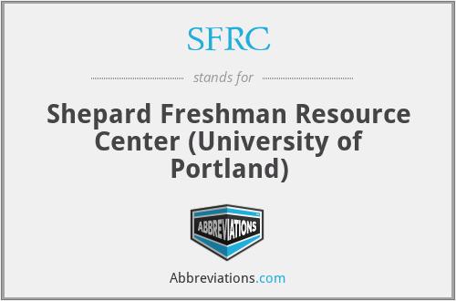 SFRC - Shepard Freshman Resource Center (University of Portland)