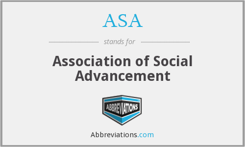 ASA - Association of Social Advancement