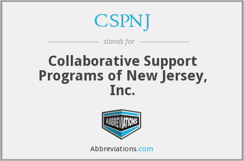 CSPNJ - Collaborative Support Programs of New Jersey, Inc.