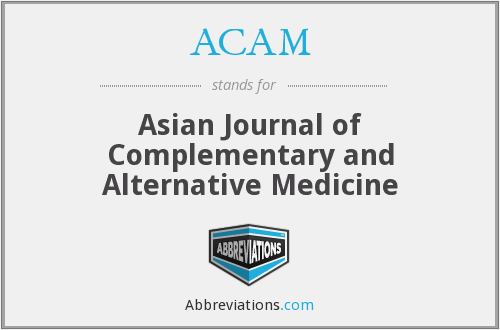 ACAM - Asian Journal of Complementary and Alternative Medicine