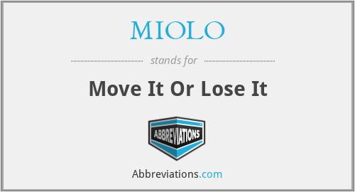 MIOLO - Move It Or Lose It