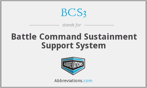 What does BCS3 stand for?