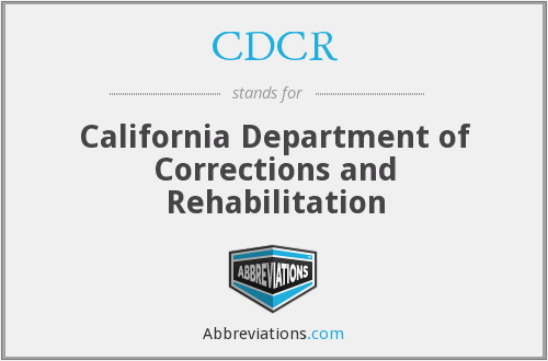 What does CDCR stand for?