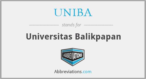 UNIBA - Universitas Balikpapan