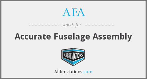 AFA - Accurate Fuselage Assembly
