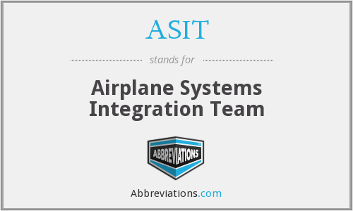 ASIT - Airplane Systems Integration Team