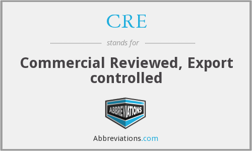 CRE - Commercial Reviewed, Export controlled