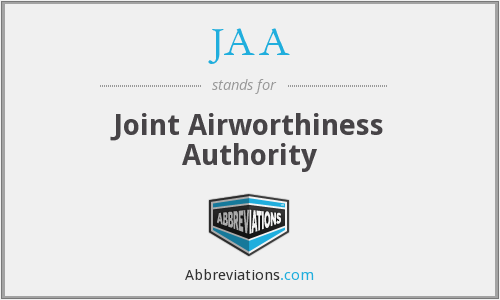 JAA - Joint Airworthiness Authority