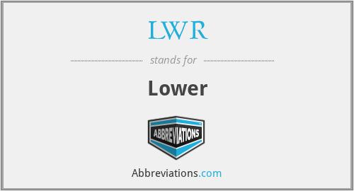 LWR - Lower