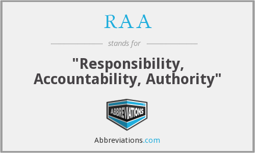 What does RAA stand for?