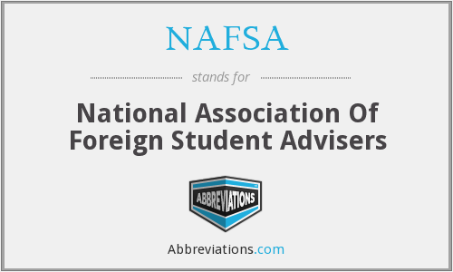 What does NAFSA stand for?