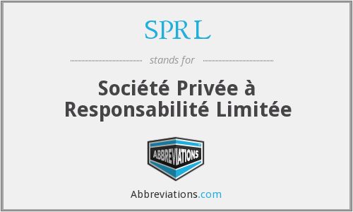 What does SPRL stand for?