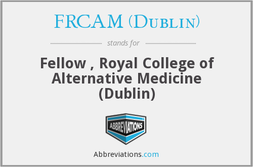What does FRCAM (DUBLIN) stand for?