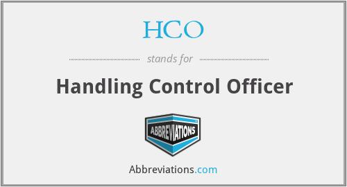 HCO - Handling Control Officer