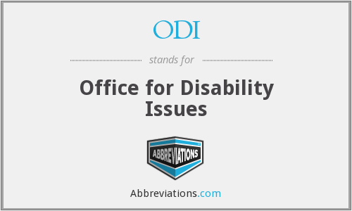 ODI - Office for Disability Issues