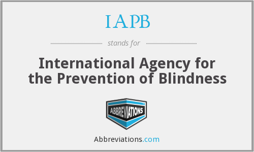 IAPB - International Agency for the Prevention of Blindness