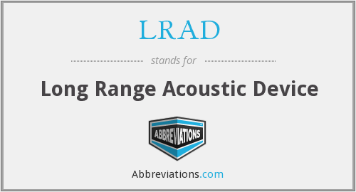 What does LRAD stand for?