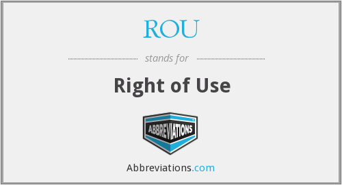 ROU - Right of Use
