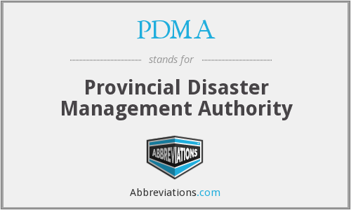 PDMA - Provincial Disaster Management Authority