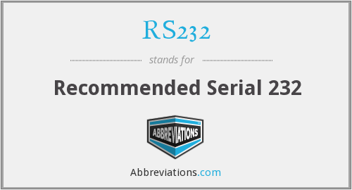 What does RS232 stand for?
