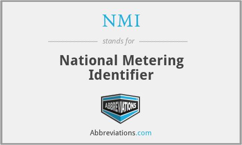 NMI - National Metering Identifier