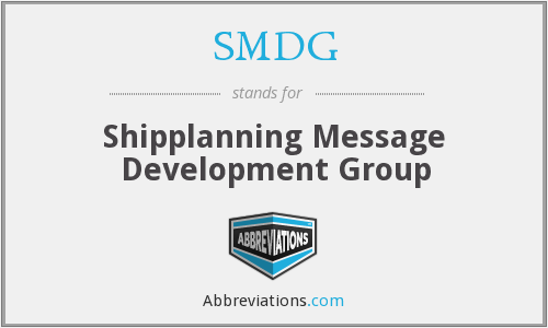 What does SMDG stand for?