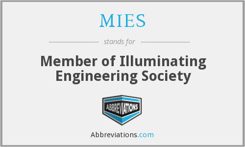 MIES - Member of Illuminating Engineering Society