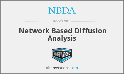 NBDA - Network Based Diffusion Analysis