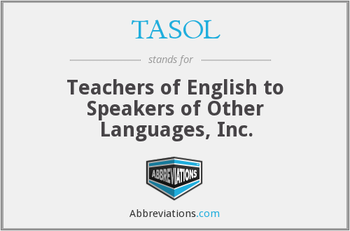 What does TASOL stand for?