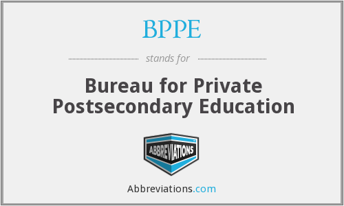 BPPE - Bureau for Private Postsecondary Education