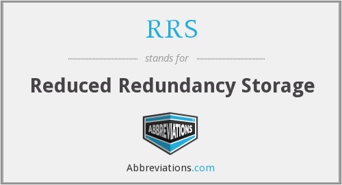 RRS - Reduced Redundancy Storage