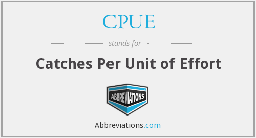 CPUE - catches per unit of effort